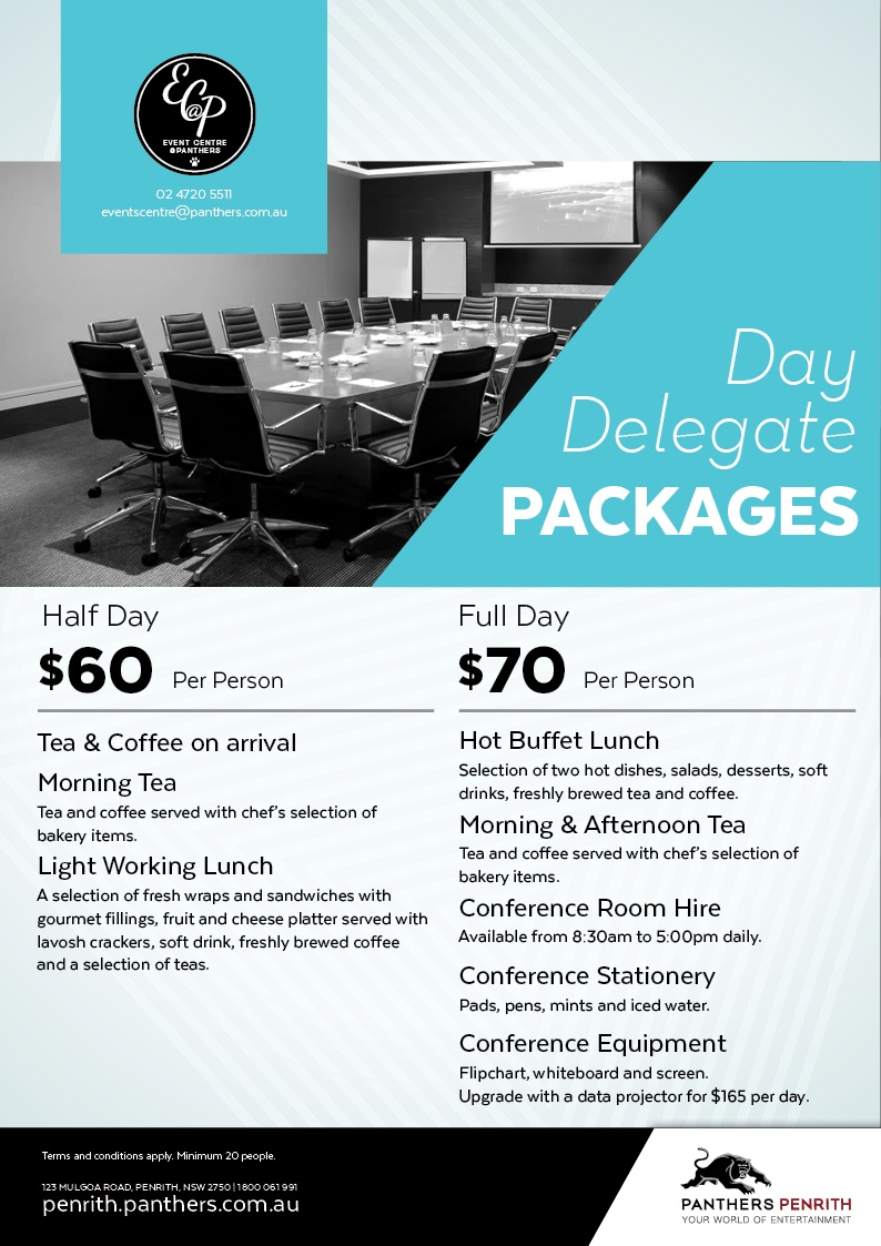 Event Centre At Panthers Day Delegate Packages