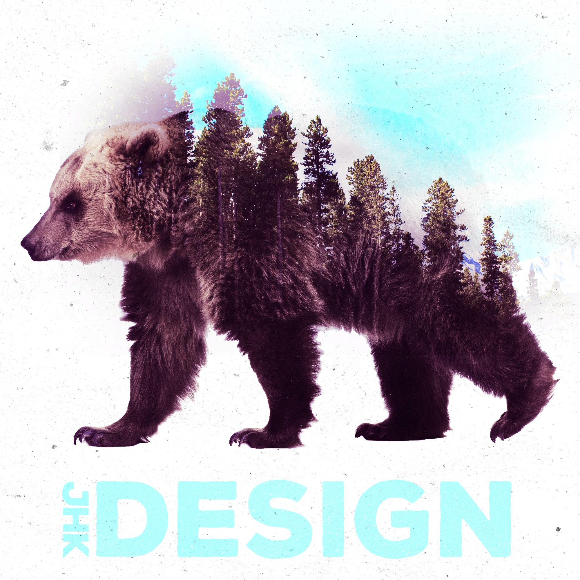 JHK Design Original Double Exposure Bear
