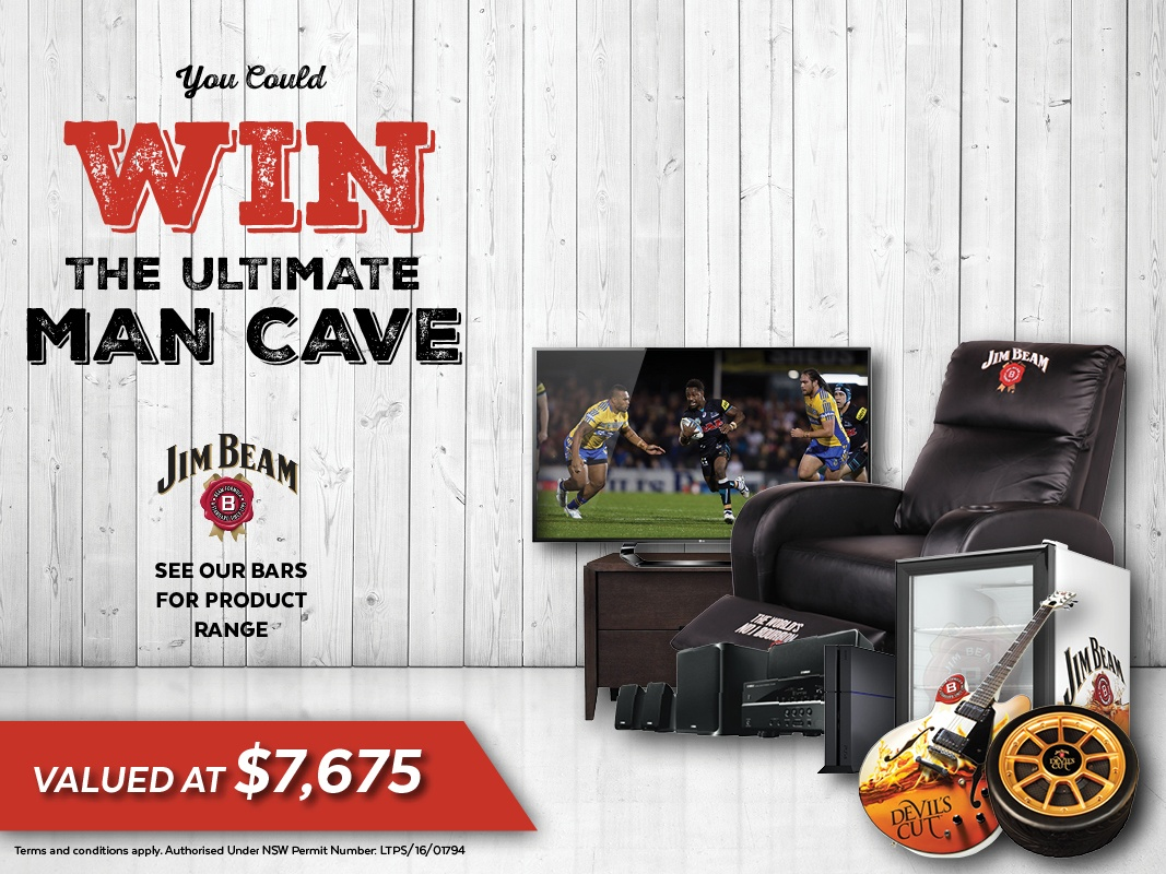 Panthers Jim Beam Man Cave Promotion