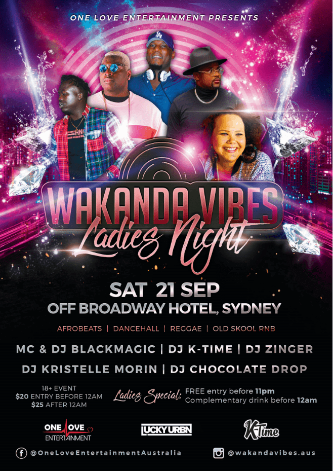 Wakanda Vibes Ladies Night Event Design