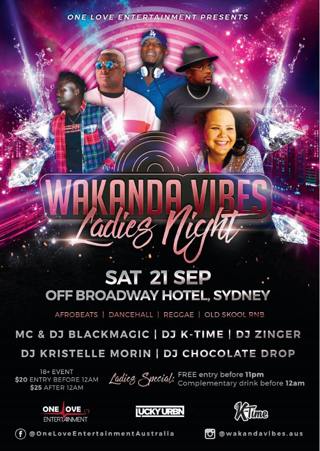Wakanda Vibes Ladies Night Event Design