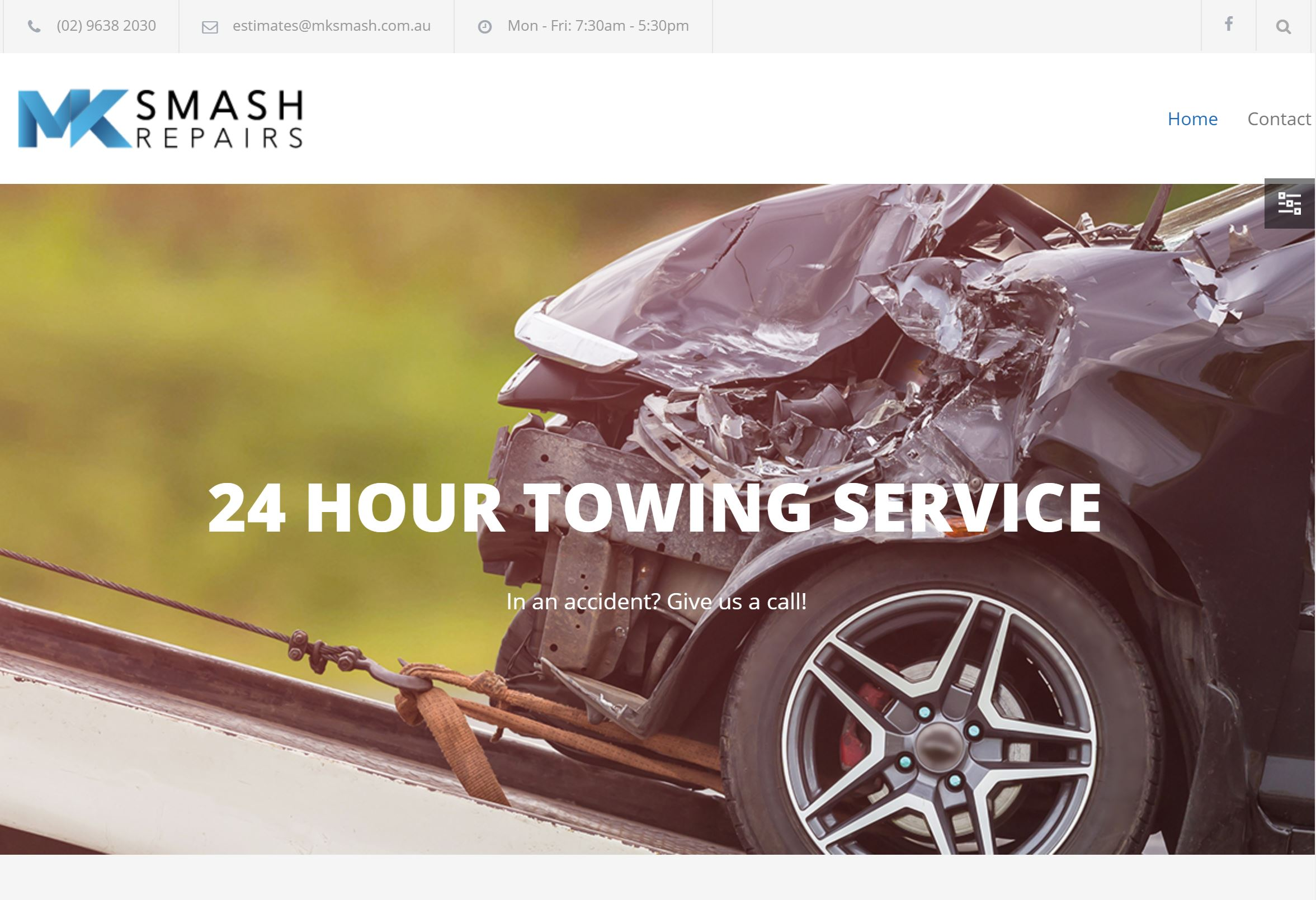 MK Smash Repairs Website Design