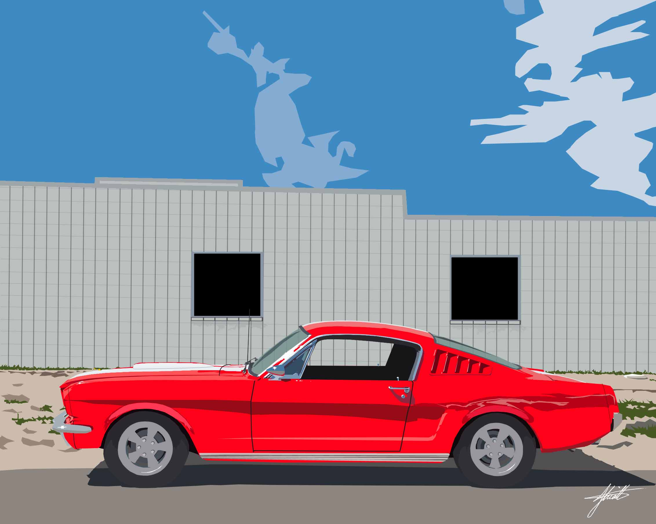 JHK Design Original Red Mustang