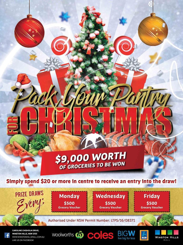 WHM Pack Your Pantry Christmas Promotion Design