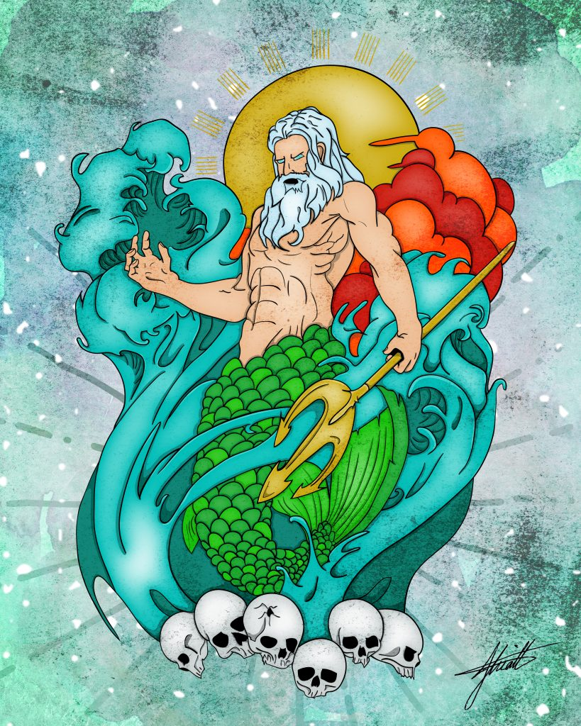 JHK Design Original Poseidon Illustration