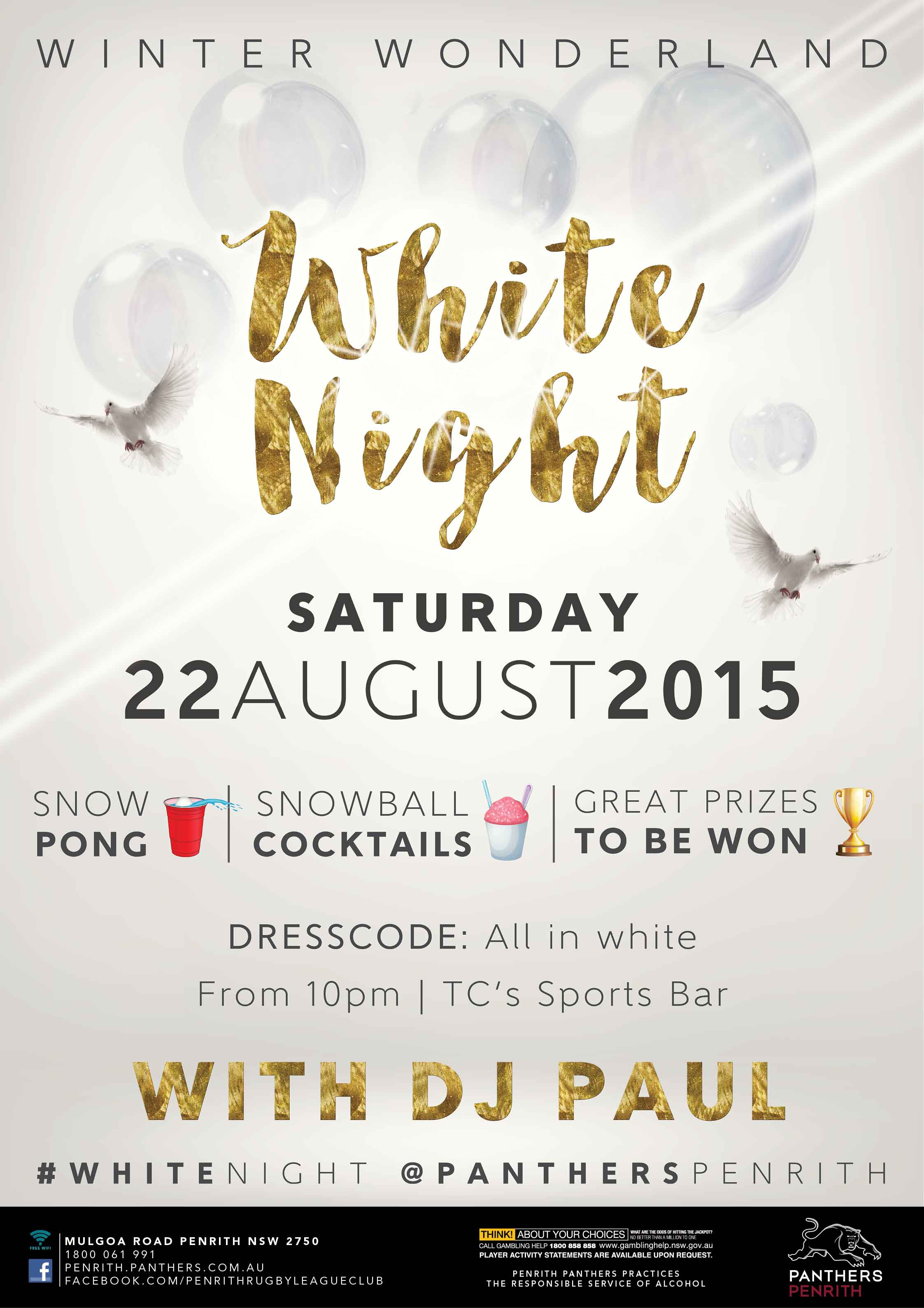 Panthers Winter Wonderland White Night Event