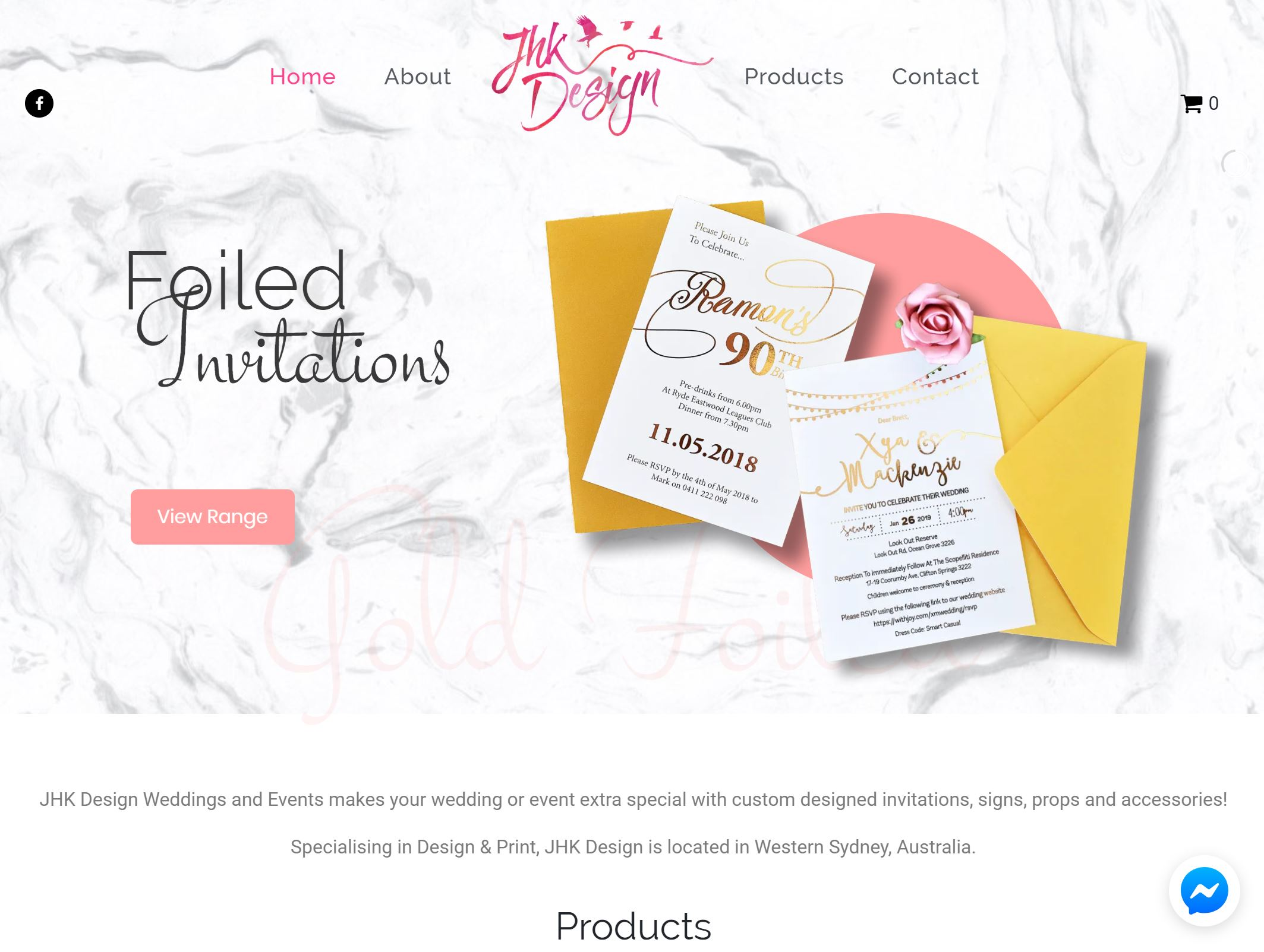 JHK Design Weddings Website Design